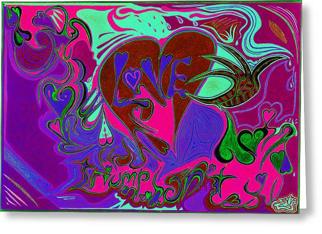 Mind Freedom. Art Therapy Greeting Cards - Love Triumphant 3of3 v2 Greeting Card by Kenneth James