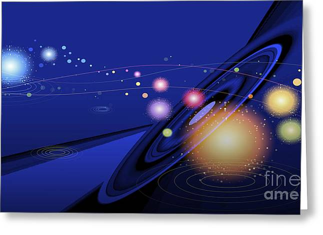 Automated Digital Art Greeting Cards - Love  Universe Greeting Card by Eleni Mac Synodinos