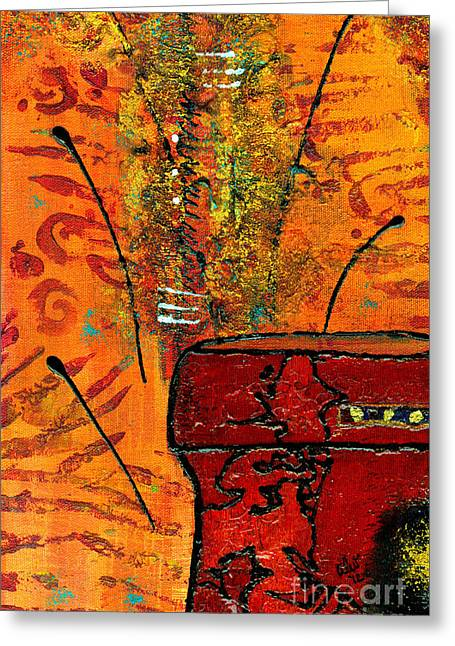 Survivor Art Greeting Cards - Love Vessel for My Woman Greeting Card by Angela L Walker