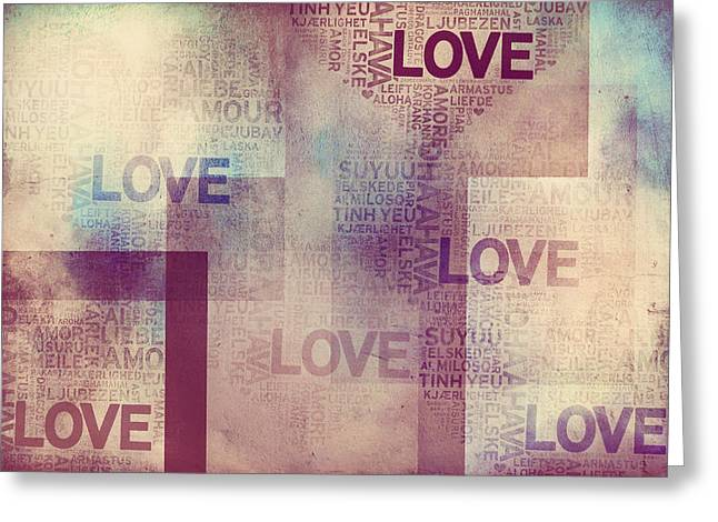I Write Greeting Cards - Love. Vintage II Greeting Card by Jenny Rainbow