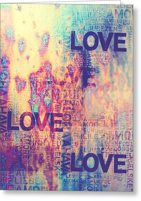 I Write Greeting Cards - Love. Vintage Greeting Card by Jenny Rainbow