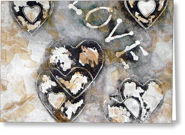 Abstract Reliefs Greeting Cards - Love Will Find You III Greeting Card by Yael VanGruber