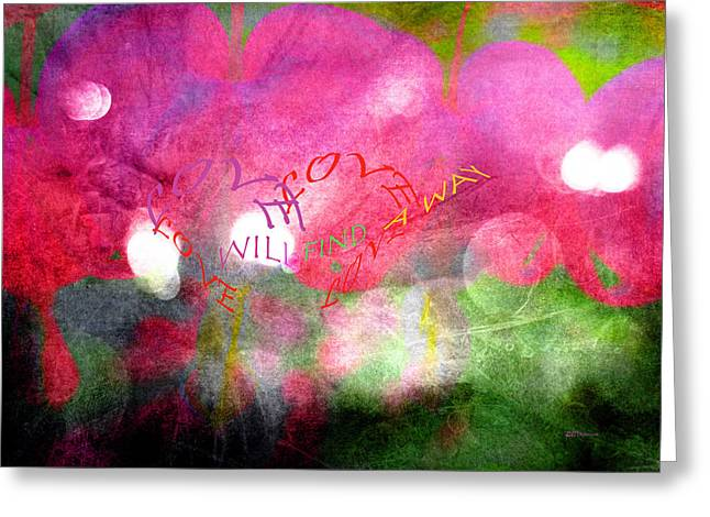 Special Occasion Greeting Cards - Love Will Greeting Card by Kathy Bassett