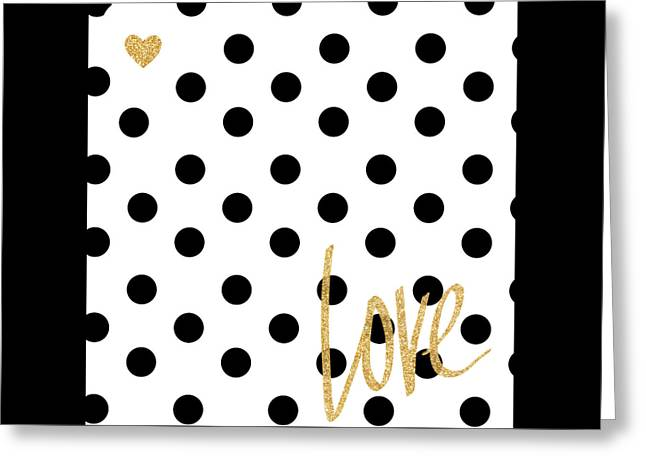 Love With Dots Greeting Card by South Social Studio