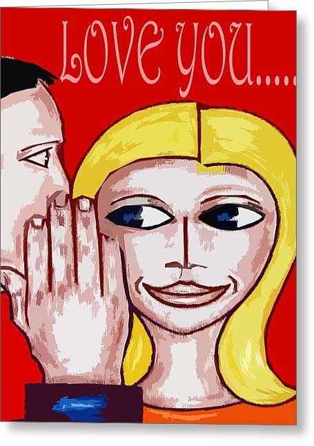 Buy Tshirts Mixed Media Greeting Cards - Love You 2 Greeting Card by Patrick J Murphy