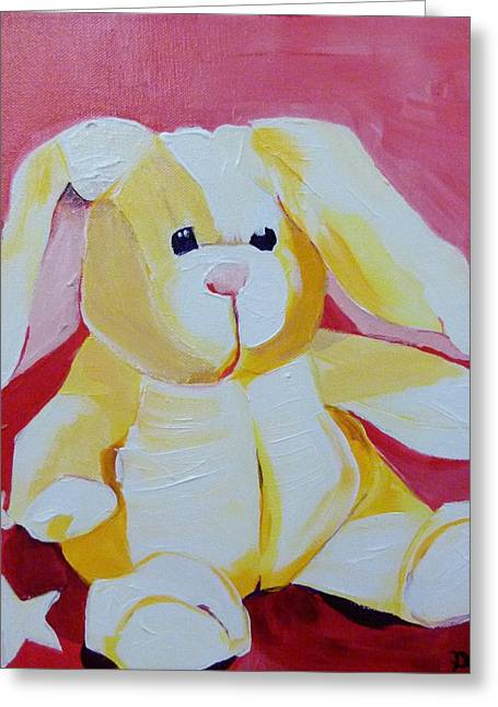 Loveable Bunny Greeting Card by Suzanne Willis