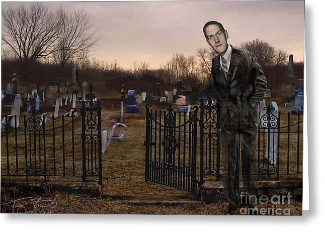 Macabre Digital Art Greeting Cards - Lovecraft Greeting Card by Tom Straub