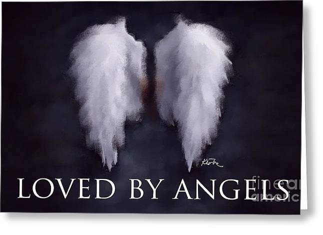 Loved By Angels Greeting Card by Karen Larter
