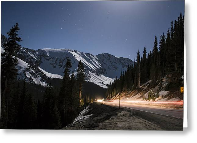 Fall Colors Greeting Cards - Loveland Pass Night Greeting Card by Michael J Bauer