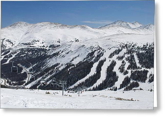 Recently Sold -  - Powder Greeting Cards - Loveland Ski Area Greeting Card by Aaron Spong