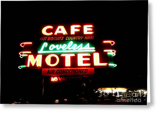 Loveless Cafe Greeting Card by Linda Woods