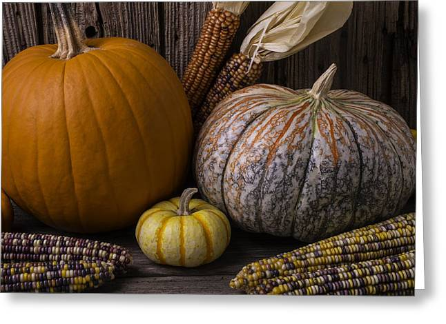 Gourds Greeting Cards - Lovely Autumn Still Life Greeting Card by Garry Gay