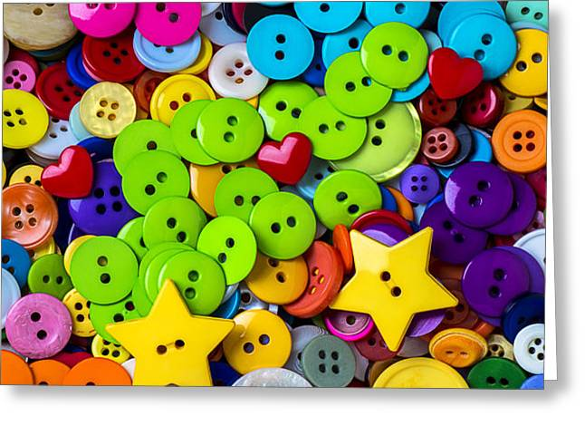Lovely buttons Greeting Card by Garry Gay