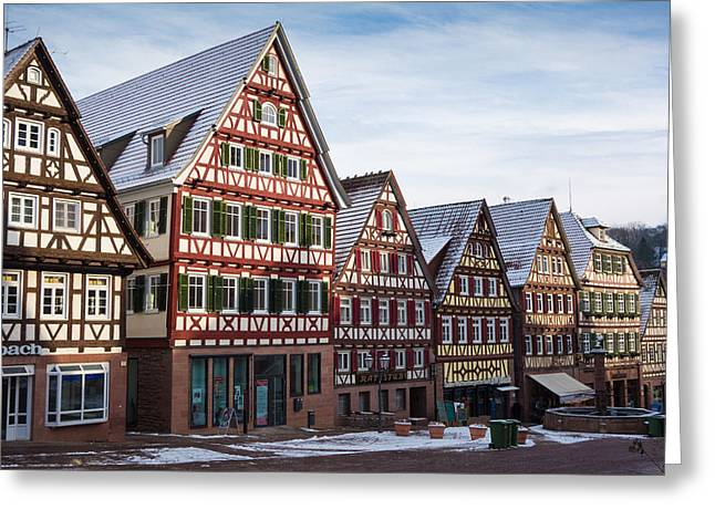 Row Of Houses Greeting Cards - Lovely Calw in Germany Greeting Card by Matthias Hauser