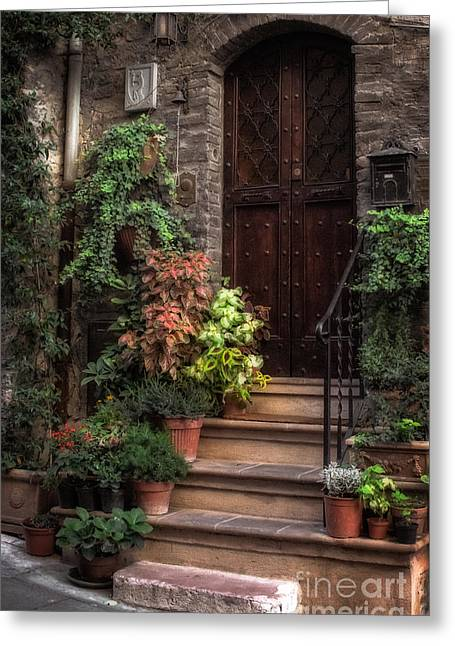 Drain Greeting Cards - Lovely Entrance Greeting Card by Prints of Italy