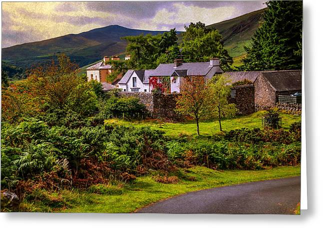 Selling Fine Art Greeting Cards - Lovely Homestead in Wicklow. Ireland Greeting Card by Jenny Rainbow