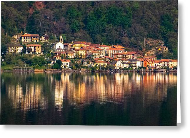 Print Greeting Cards - Lovely Italian Village Greeting Card by Yuri Fineart
