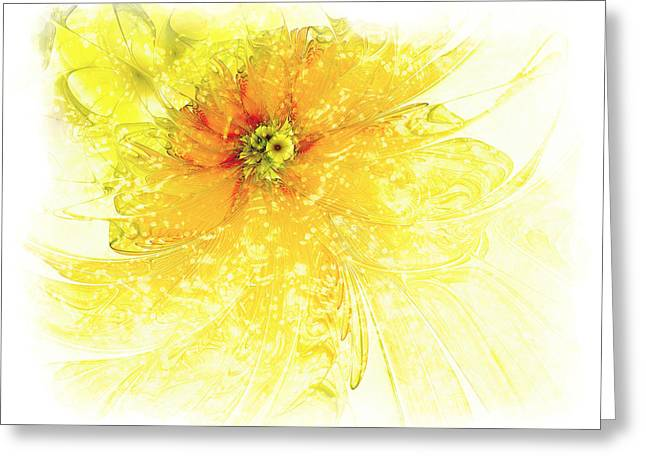Floral Digital Art Greeting Cards - Lovely Lemon Greeting Card by Amanda Moore
