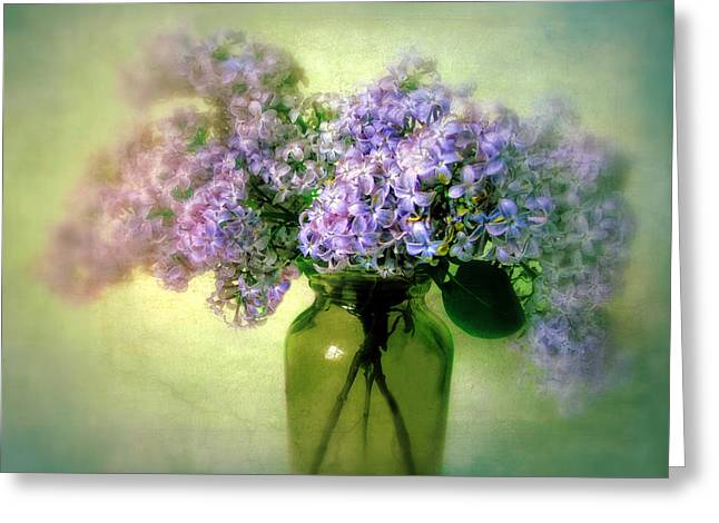 Violet Blue Greeting Cards - Lovely Lilac  Greeting Card by Jessica Jenney