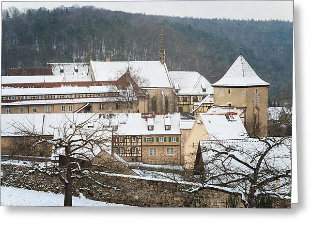 Mediaeval Greeting Cards - Lovely medieval old town in winter Greeting Card by Matthias Hauser
