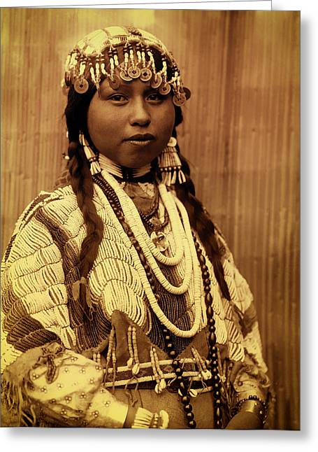 Braided Hair Greeting Cards - Lovely Wishham Bride 1910 Greeting Card by Mountain Dreams