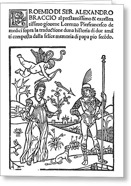 Lovers, 1510 Greeting Card by Granger