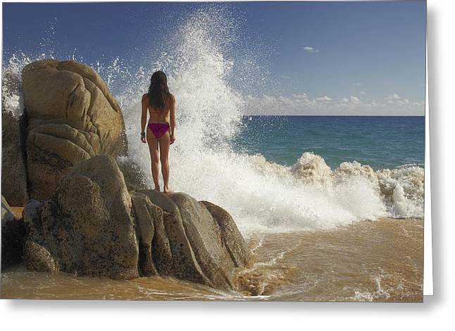 Tim Fitzharris Greeting Cards - Lovers Beach in Mexico Greeting Card by Tim Fitzharris