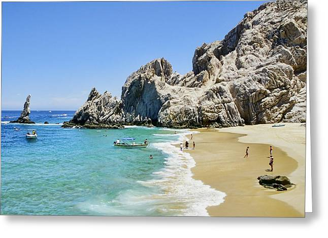Cabo San Lucas Greeting Cards - Lovers Beach Greeting Card by Kelley King