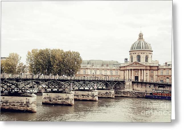 Greeting Cards - Lovers Bridge Paris Greeting Card by Ivy Ho