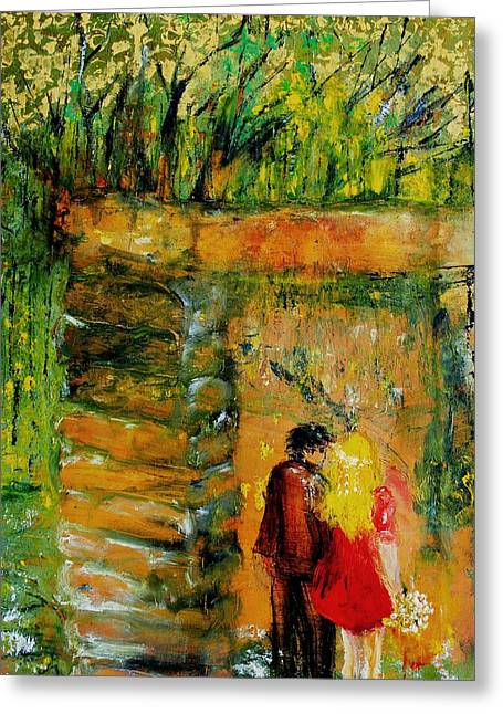 Lovers Greeting Card by Evelina Popilian