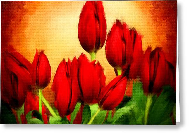 Spring Bulbs Greeting Cards - Lovers Hearts Greeting Card by Lourry Legarde