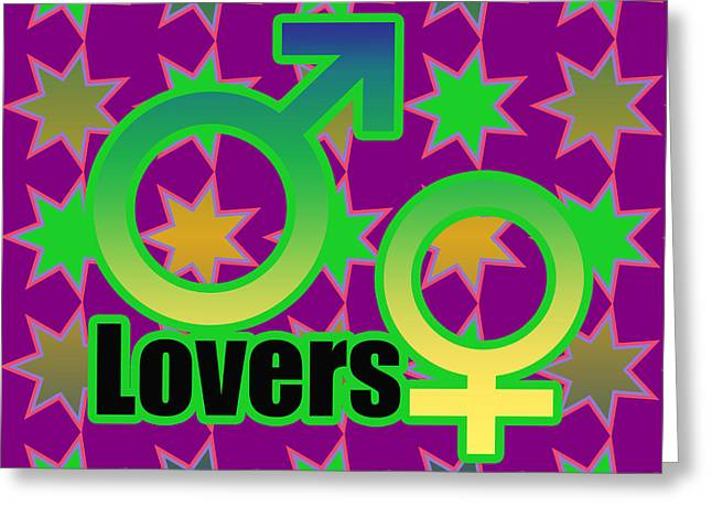 Cute Mixed Media Greeting Cards - Lovers in pop art Greeting Card by Toppart Sweden