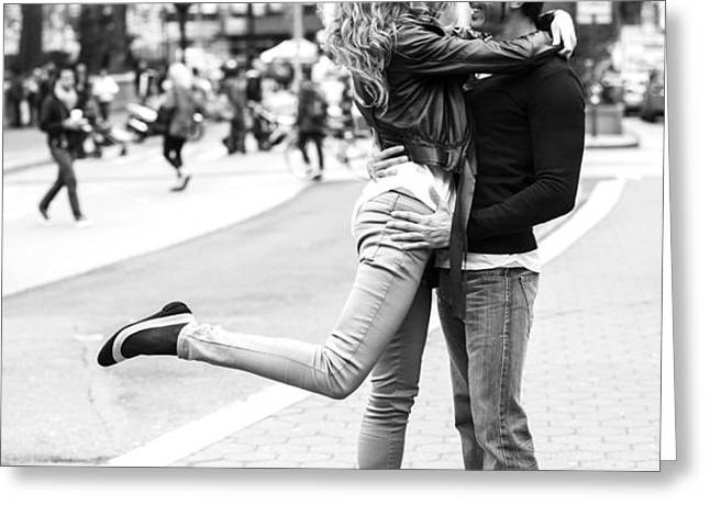 Lovers in the City Greeting Card by Diane Diederich