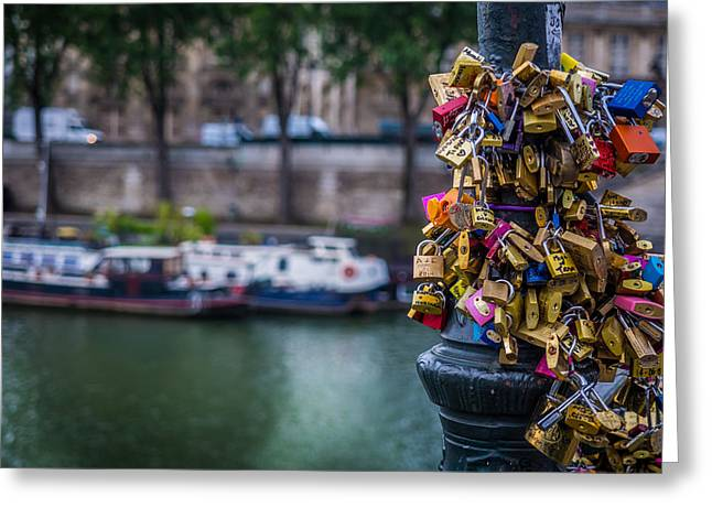 Reflectio Greeting Cards - Lovers Locks Greeting Card by Mark Llewellyn