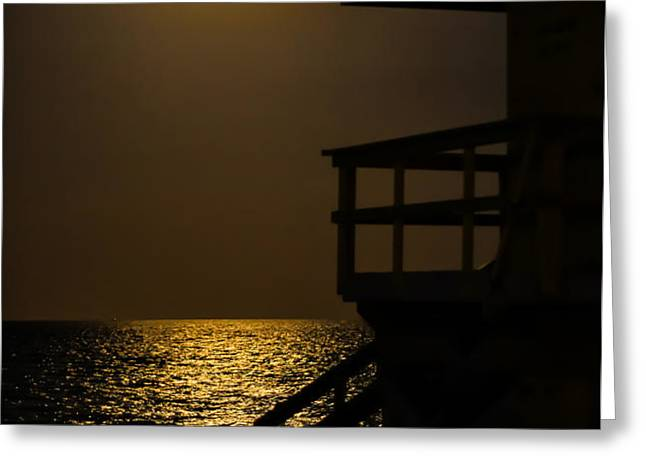 Lovers Moon Greeting Card by Rene Triay Photography