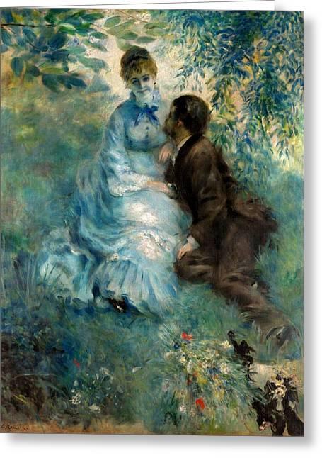 Prague Paintings Greeting Cards - Lovers Greeting Card by Pierre-Auguste Renoir