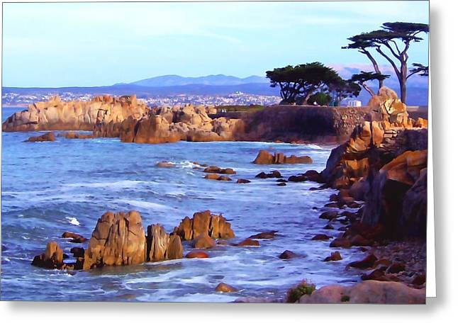 Ocean Art. Beach Decor Greeting Cards - Lovers Point  Greeting Card by Art Block Collections