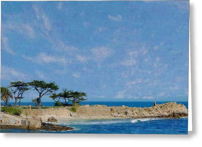 Big Sur Beach Greeting Cards - Lovers Point - Pacific Grove CA Greeting Card by Jim Pavelle