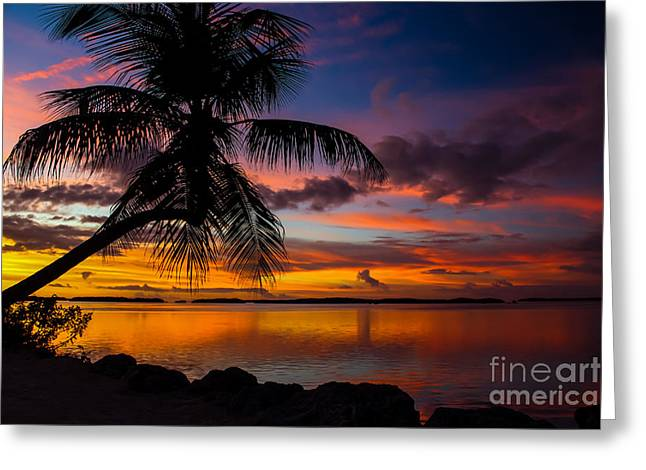 Isla Morada Greeting Cards - Lovers Retreat Greeting Card by Rene Triay Photography