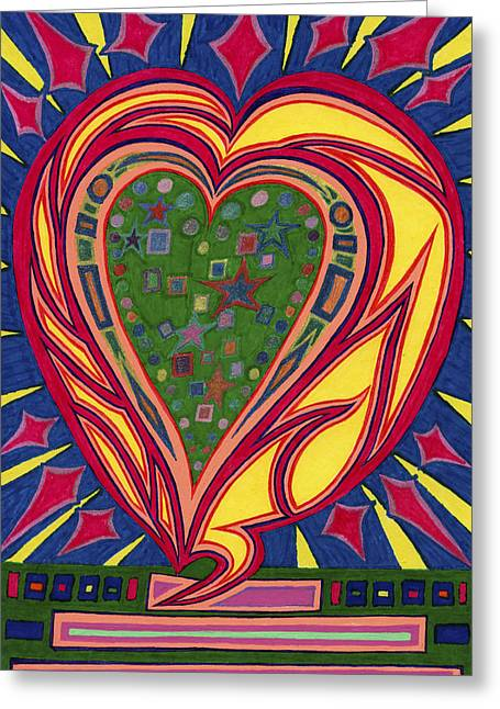 Kenneth James Greeting Cards - Loves Brilliance Illuminated Greeting Card by Kenneth James