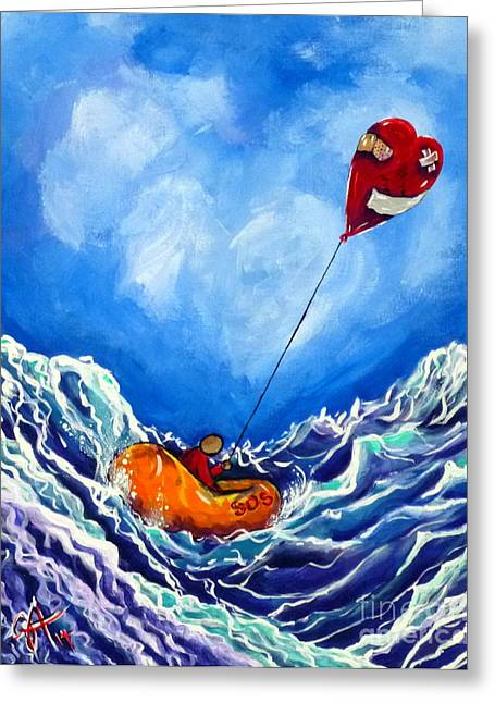 Recently Sold -  - Divorce Greeting Cards - Loves Castaway Greeting Card by Jackie Carpenter