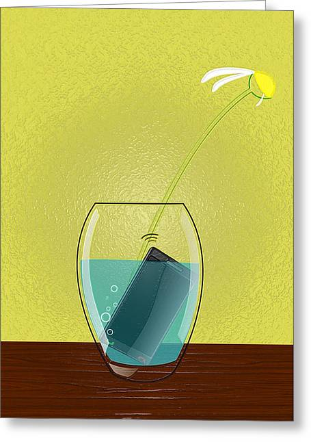 Interior Still Life Digital Greeting Cards - Loves Me Greeting Card by Still Life