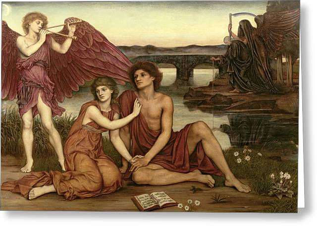 Williams Greeting Cards - Loves Passing Greeting Card by Evelyn De Morgan