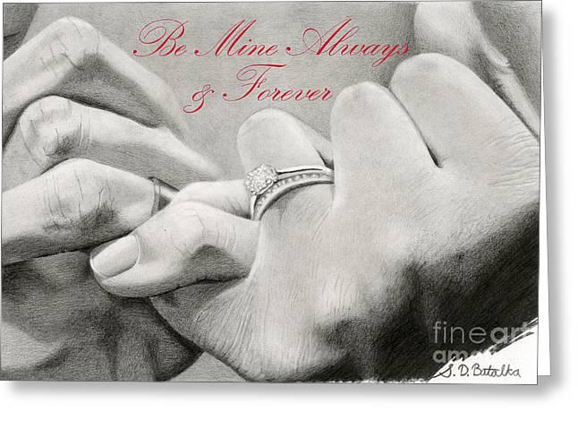Bridal Shower Greeting Cards - Loves Promise- Valentine Greeting Card by Sarah Batalka