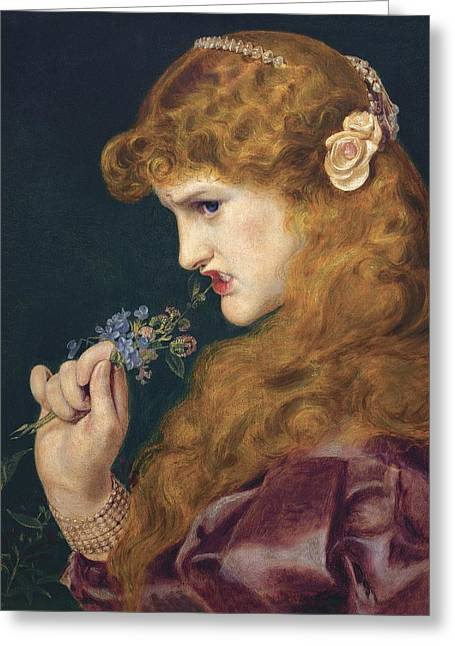 Frederick Greeting Cards - Loves Shadow Greeting Card by Frederick Sandys