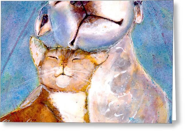 Lovey Dovey Greeting Card by Marie Stone Van Vuuren