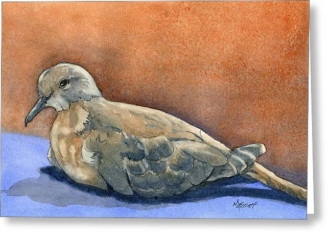 Doves Greeting Cards - Lovey Dovey Greeting Card by Marsha Elliott