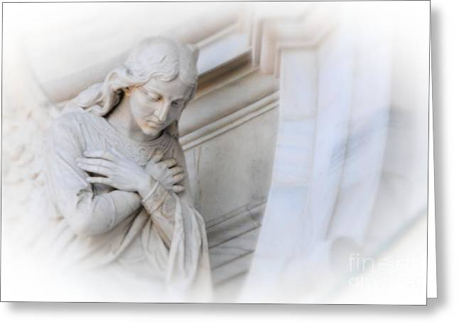 Loving Angel Greeting Card by Kathleen Struckle