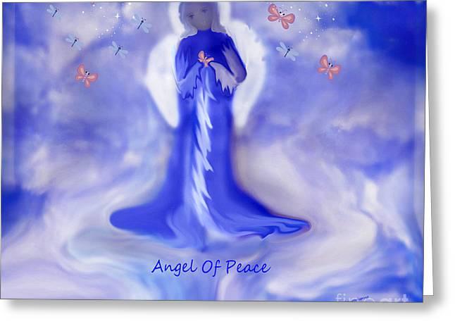 Loving Angel of Peace Greeting Card by Sherri  Of Palm Springs
