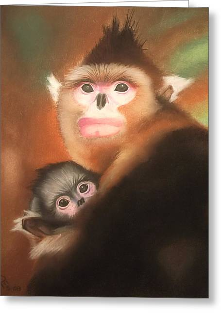 Son Pastels Greeting Cards - Loving Arms Greeting Card by Norfleet Edwards